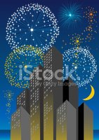 Art Deco,Firework Display,P...