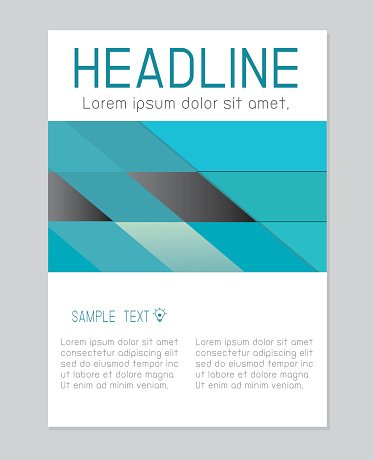 Flyer design vector template in A4 size, Brochure booklet cover
