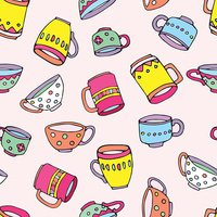 cute mugs and cups background