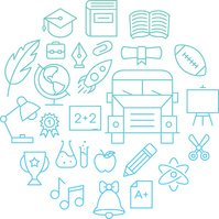 Outline Education Icons Background