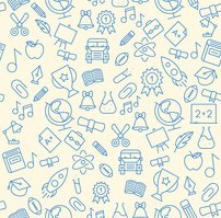 Education Icon Seamless Background Pattern