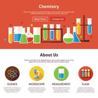 Chemistry Science Flat Web Design Template