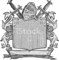Engraved Image,Coat Of Arms...