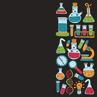 Chemistry Pharmacology Natural sciences Vector doodle set