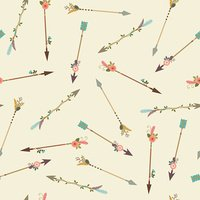 Boho arrows seamless pattern