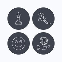 Save planet, slapstick and strategy icons.