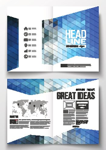 Set of business templates for brochure, magazine, flyer, booklet or