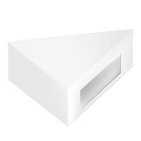 White gray triangle packaging box