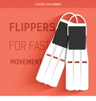 flippers for fast movement under water