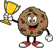 Chocolate Chip Cookie with a Trophy