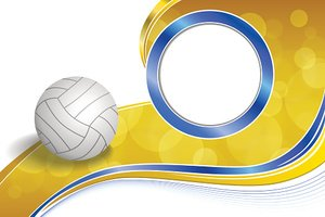 Blue,Yellow,Ball,Frame,Voll...