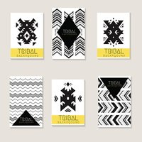 Tribal style design card template.