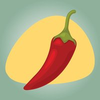 Vector illustration of spicy chili pepper