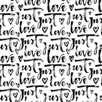 Seamless pattern with hand drawn words.