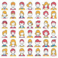 People icon of different Social Groups