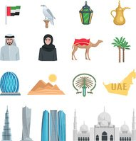 United Arab Emirates Flat Icons