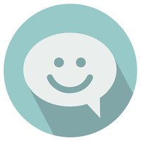 Smile talking bubble icon