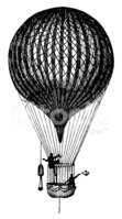 Hot Air Balloon,Engraving,E...