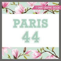 Floral Shabby Chic Graphic Design for t-shirt, fashion, prints