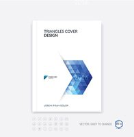 Abstract business brochure template layout, cover design report,