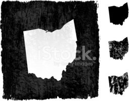 Ohio,Map,Dirty,Grunge,Carto...