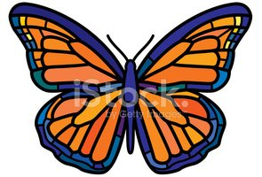Stained Glass,Butterfly - I...