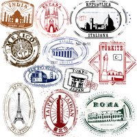 Stylish Travel Stamps from yonder