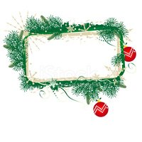 Christmas,Frame,Evergreen T...