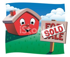 House,Sold,Cartoon,Sign,Sel...