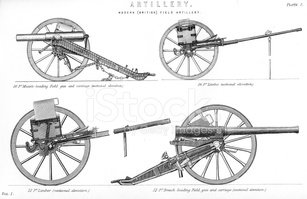 Cannon,Engraved Image,Gun,I...