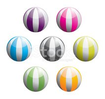 Beach Ball,Ball,Striped,Mul...