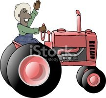 Tractor,Cartoon,Farmer,Humo...