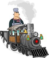Train,Cartoon,Engineer,Smal...
