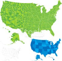 USA,Map,counties,Cartograph...