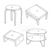 Table,Stool,Furniture,Sketc...