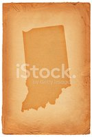 Indiana,Map,Cartography,Old...