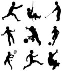 Child,Sport,Silhouette,Playin…