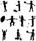 Child,Silhouette,Sport,Golf,C…