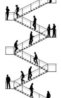 Staircase,Walking,Moving Up...