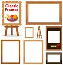 Picture Frame,Easel,Wood - ...