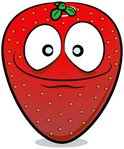 Strawberry,Fruit,Cheerful,S...