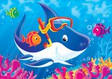 Shark,Cartoon,Fish,Animatio...