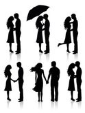 Couple,Silhouette,Kissing,H...