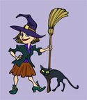Witch,Broom,Costume,sorcere...