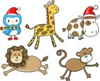 Cow,Owl,Monkey,Christmas,Cu...