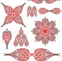 Paisley,Mandala,Red,Wing,An...