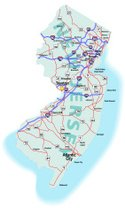 New Jersey,Map,Highway,Road...