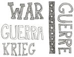 War,Text,Doodle,graphic ele...