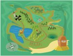 Map,Treasure Map,Cartoon,T...