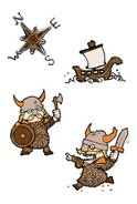 Viking,Viking Ship,Cartoon,...